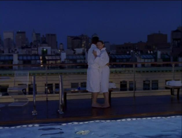 Sex in the rooftop pool