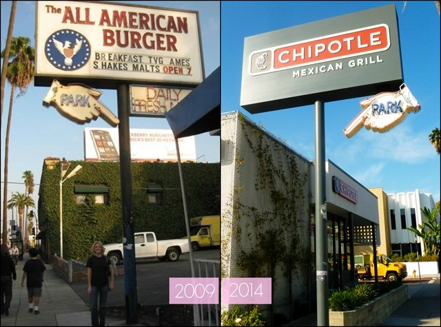 All American Burger Sign