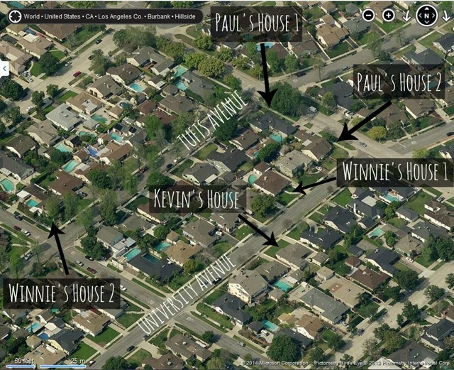 Map of The Wonder Years Neighborhood