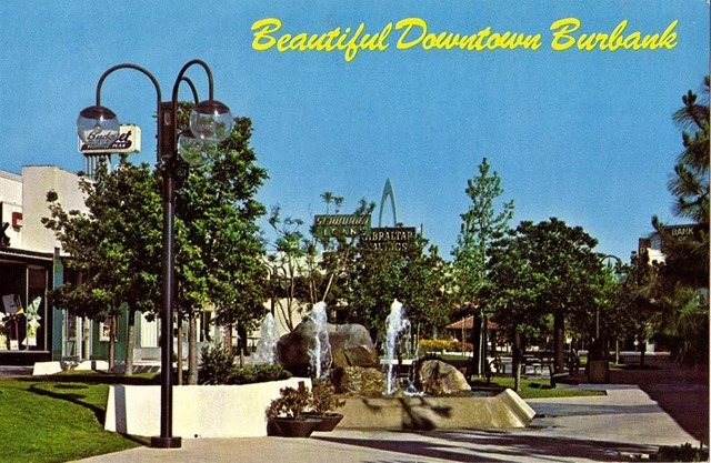 Beautiful Downtown Burbank Postcard