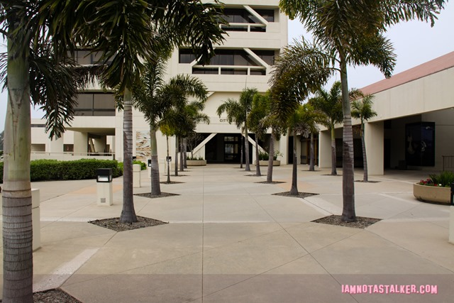 Huntington Beach Civic Center from Rosewood-7718
