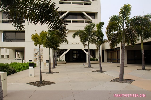 Huntington Beach Civic Center from Rosewood-7723