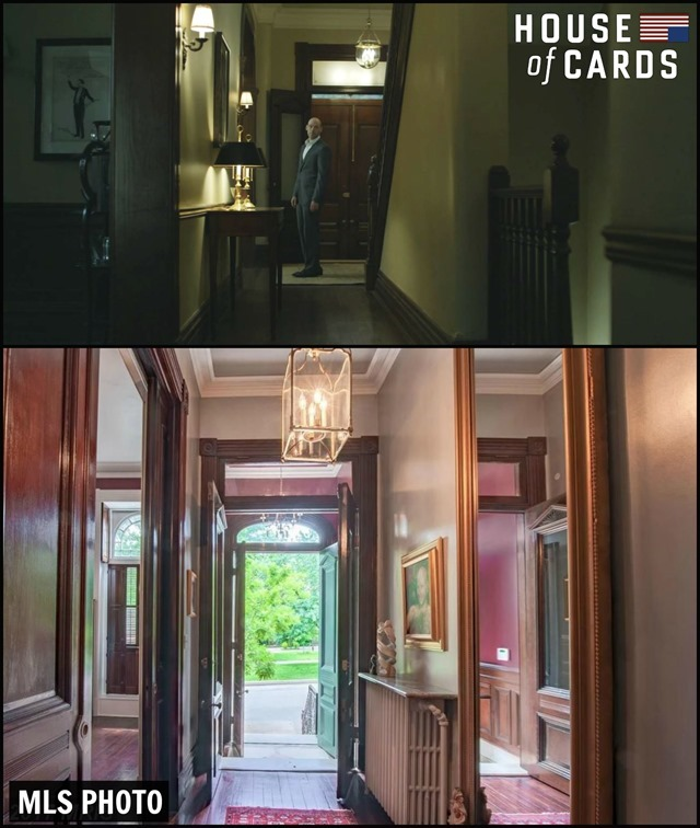 House of Cards House Hallway Collage