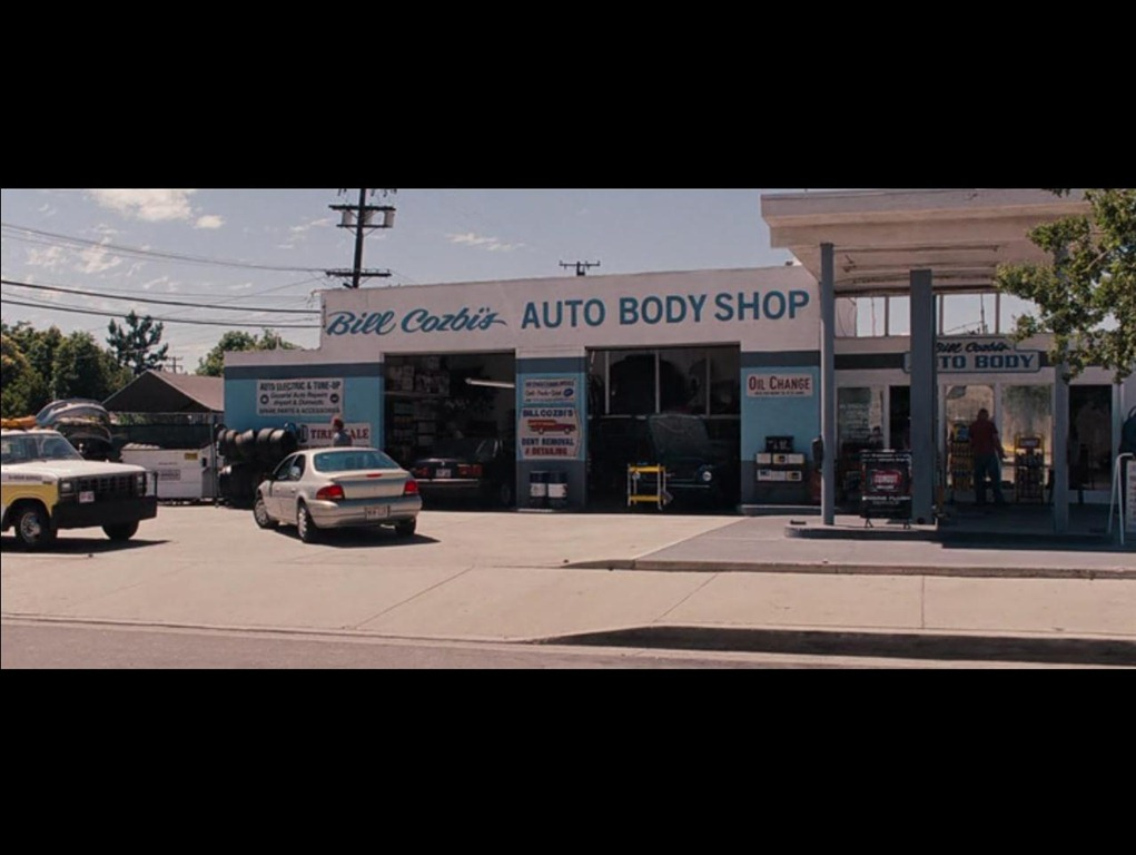 "Bill Cozbi's Auto Body Shop from ""Bridesmaids ..."